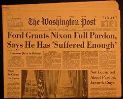 Ford Pardons Nixon Headline
