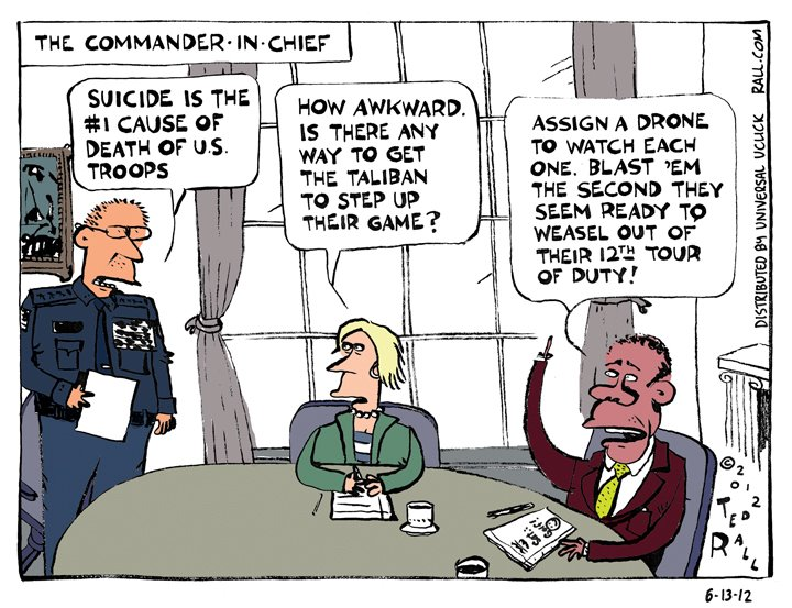 Ted Rall on Military Suicides