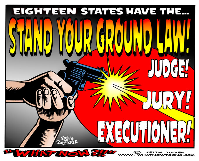 stand your ground law encouraging vigilantism the tragic death of trayvon martin and the legal prote Not long after florida enacted the first stand your ground law in the trayvon martin  defense and is seen by some as encouraging vigilante justice.