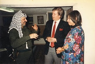 Alan Hart with Arafat