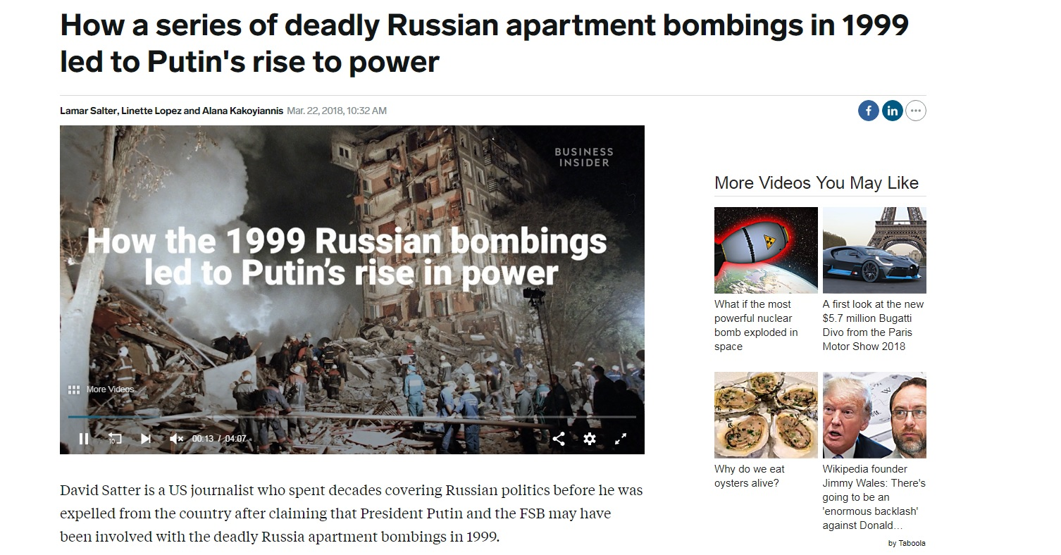 Moscow apartment bombings false flag