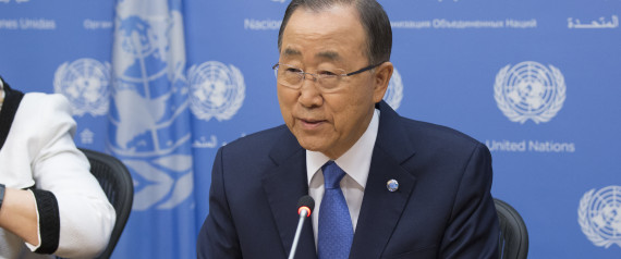 Secretary General Ban Ki-moon attends a Press briefing on