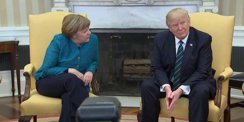 trump-appears-to-ignore-requests-for-a-handshake-with-angela-merkel-during-their-first-meeting