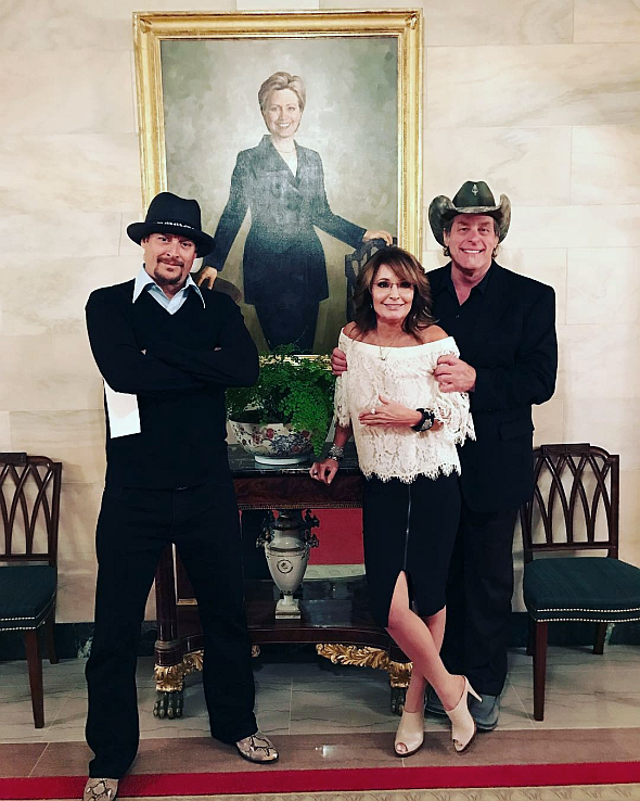 2017-04-19-Kid-Rock-Sarah-Palin-Ted-Nugent-White-House-photo-Shemane-Nugent
