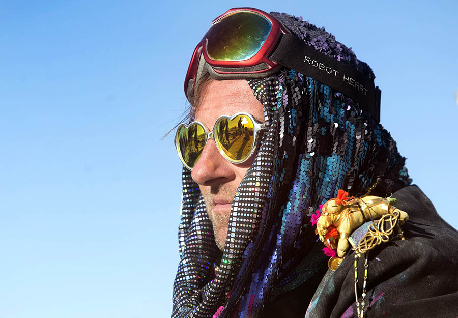 Rick Egan | The Salt Lake Tribune Nicolas Depanea Paris, France, at Burning Man, in the Black Rock Desert, Friday, September 4, 2015.