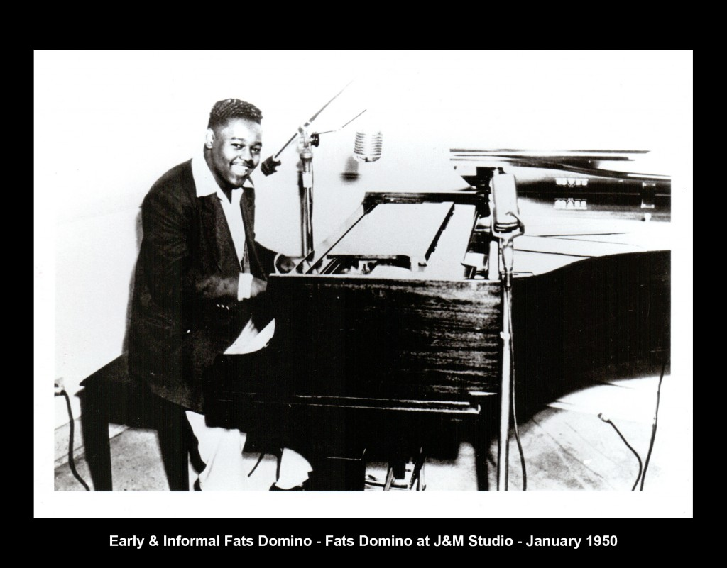 Fats Domino at J&M Studio, January 1950.
