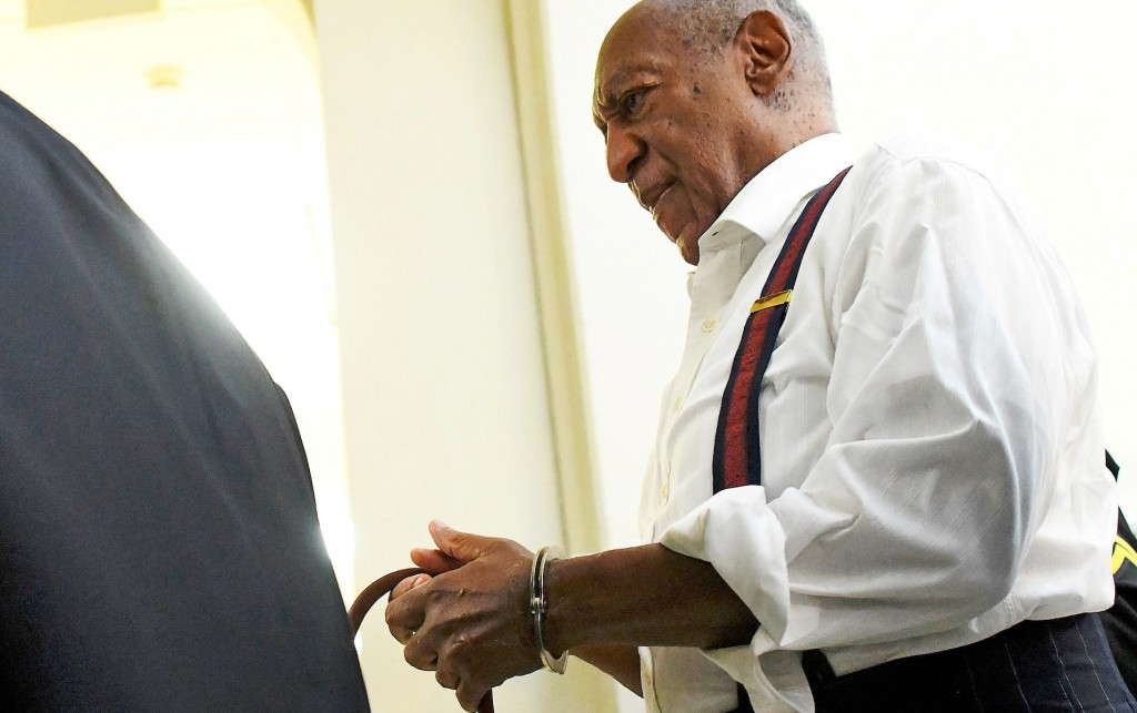 Bill Cosby departs the Montgomery County Courthouse in handcuffs after being sentenced in his sexual assault trial on September 25, 2018 in Norristown, Pennsylvania, U.S. September 25, 2018. Mark Makela/Pool via REUTERS